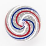 4th of July Red White and Blue Swirl