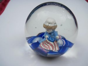 Small girl figure in patriotic colors